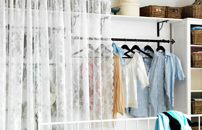 36 best storage solutions images on pinterest No closet hanging solutions