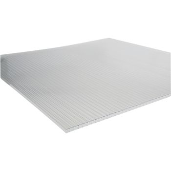 Twin Wall Polycarbonate Greenhouse Panels, 8mm Clear
