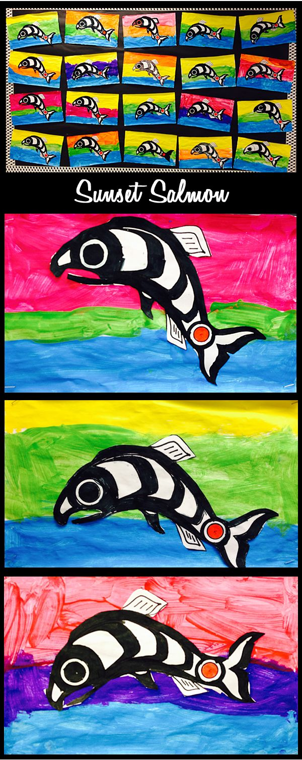 Grade ONEderful: Sunset Salmon Paintings