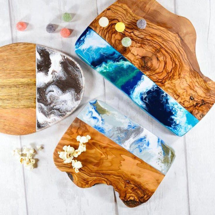 Wood And Resin Cutting Boards Bring The Beauty Of The