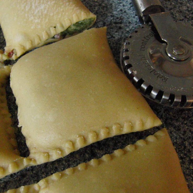 Rezept Maultaschen mit selbstgemachtem Nudelteig von banjole - Rezept der Kategorie Hauptgerichte mit Fleisch