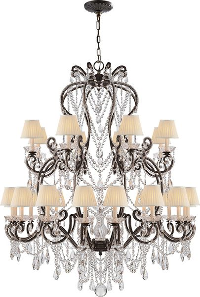 Adrianna large chandelier in antique silver leaf with crystals ceiling fixtures lighting products ralph lauren home