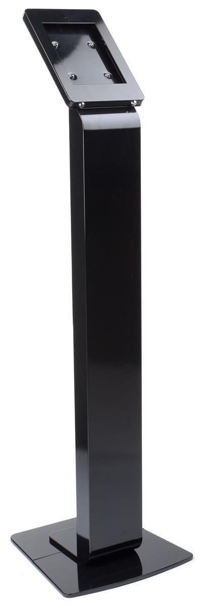 Navigator Series iPad Floor Stand & Enclosure w/ Lock and Hidden Power Strip - Black