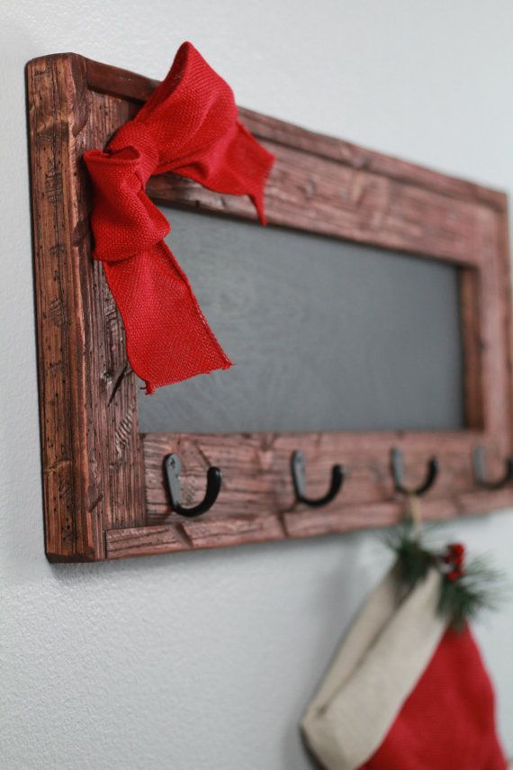 Rustic Hanging Christmas Stocking Holders Red by TRHOutfitterLLC