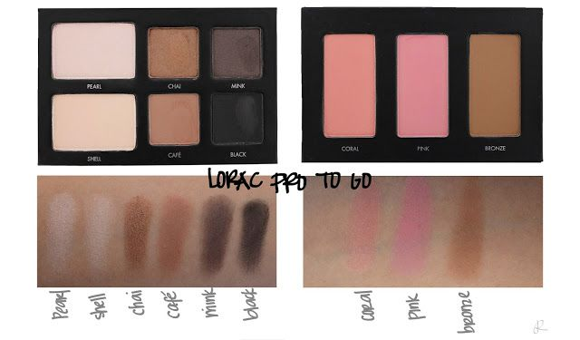 LORAC PRO To Go - Swatches