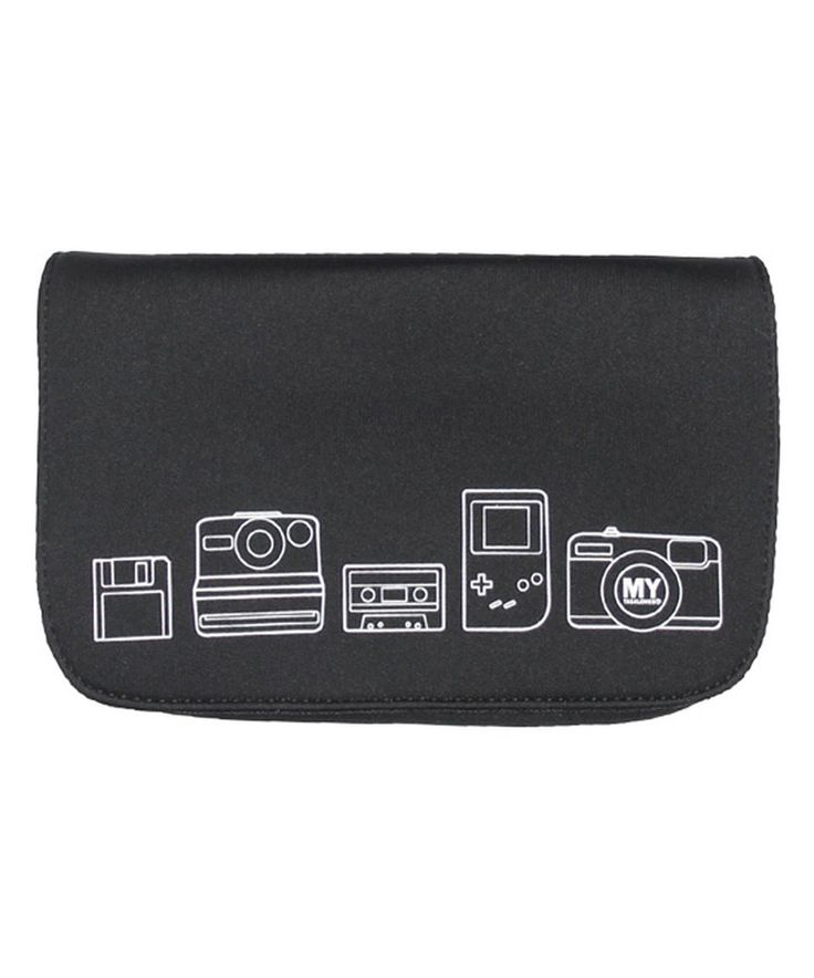 Love this MYTAGALONGS Black Retro Neoprene Charger Carrying Case by MYTAGALONGS on #zulily! #zulilyfinds