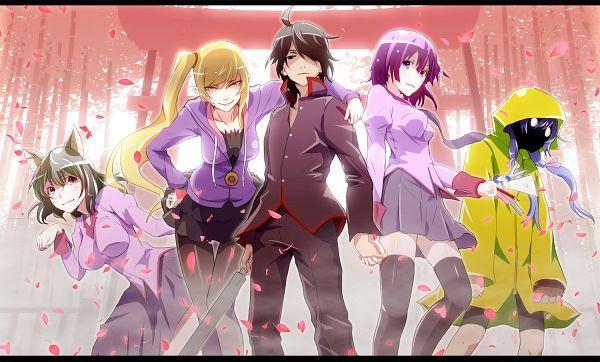 Tags: Anime, Monogatari, Oshino Shinobu, Araragi Koyomi, Senjougahara Hitagi, Hanekawa Tsubasa, Kanbaru Suruga