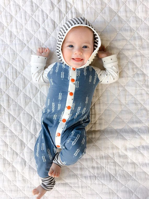 Baby Boy Romper / Coming Home Outfit / Baby Boy Gift / One