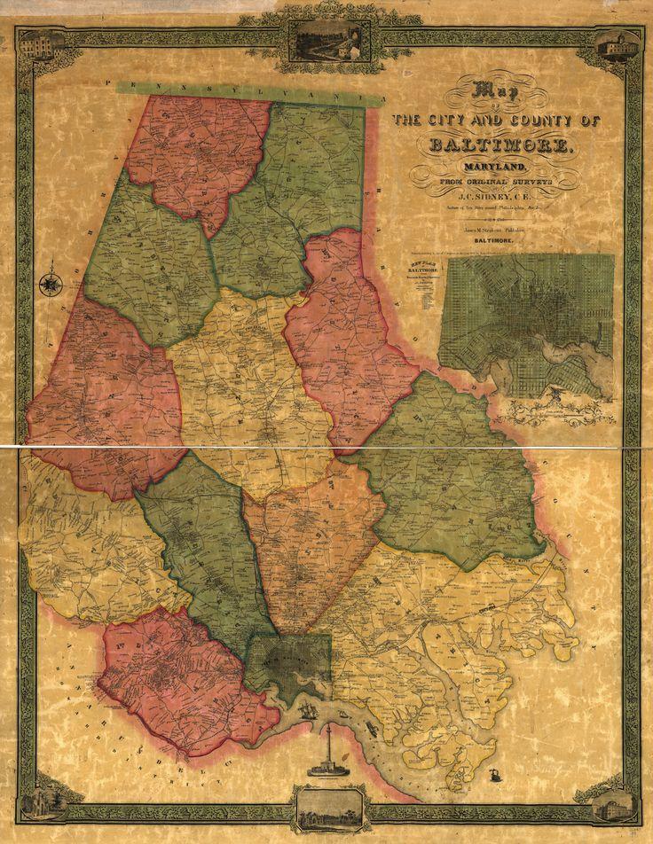 1857 Baltimore Map Amazing 1857 map of