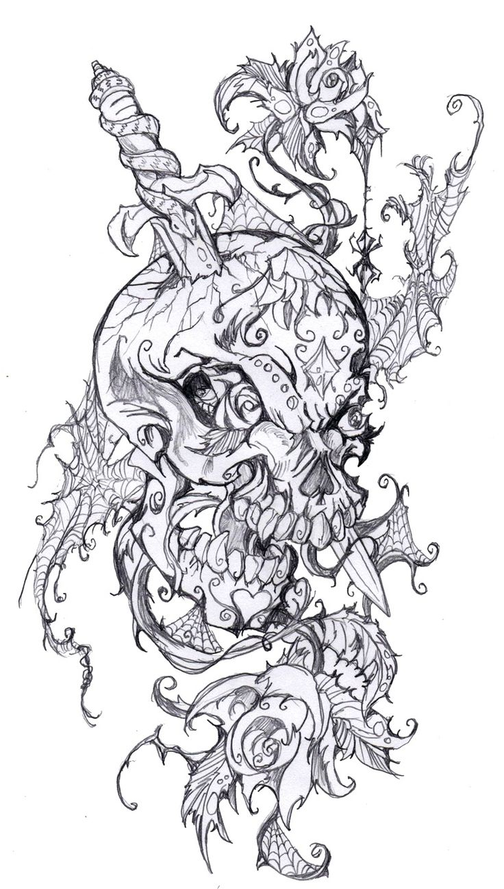 A non traditional sugar skull tattoo design by your truly for Non ducor duco tattoos designs