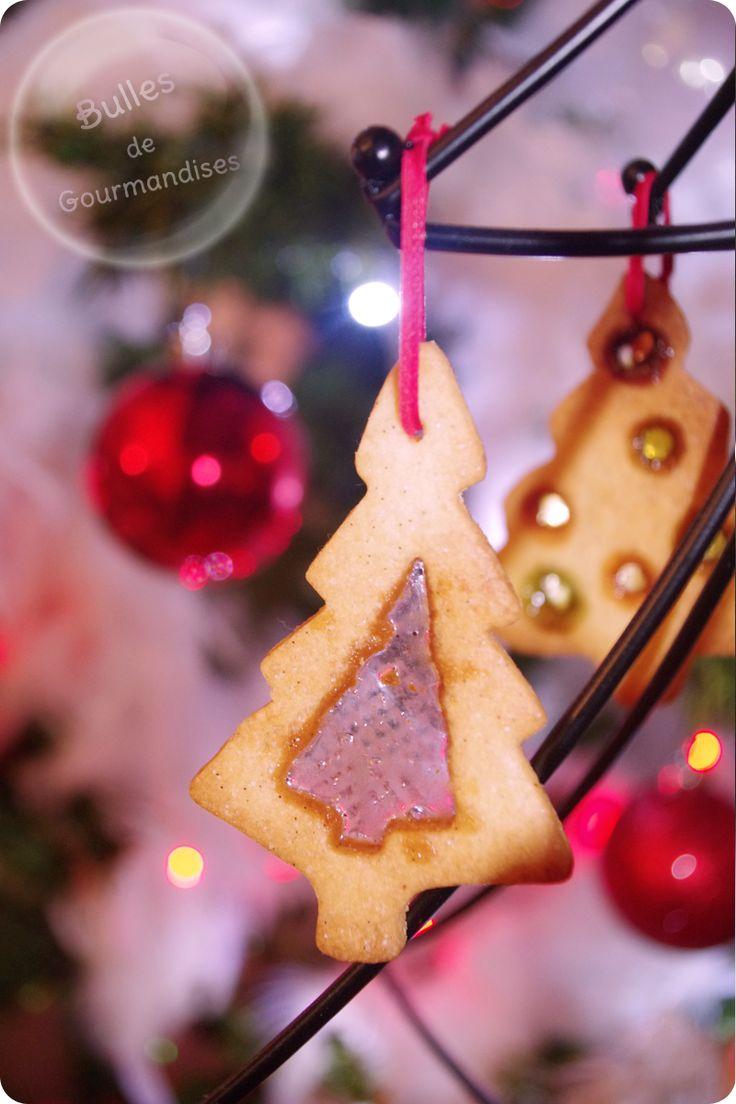 Christmas cookies / Sablés de Noël vanillés façon vitrail
