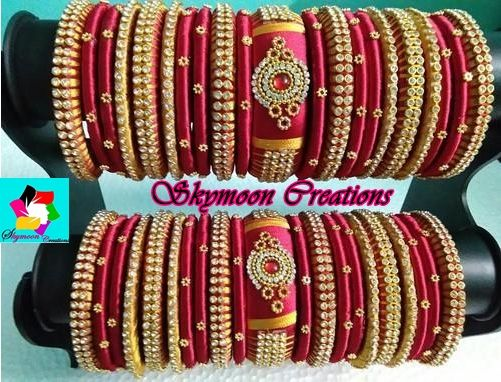 Brown Color Exclusively Weddings Designed Broad Silk Thread Bangle Designs Its Purely Handmade Products Whole Ers Are Also Welcome