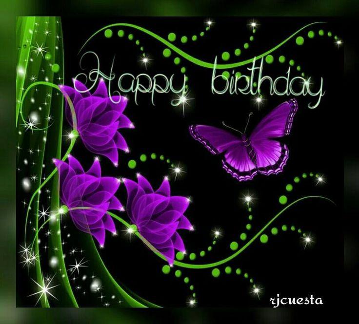 purple butterflies birthday HAPPY BIRTHDAY TO YOU
