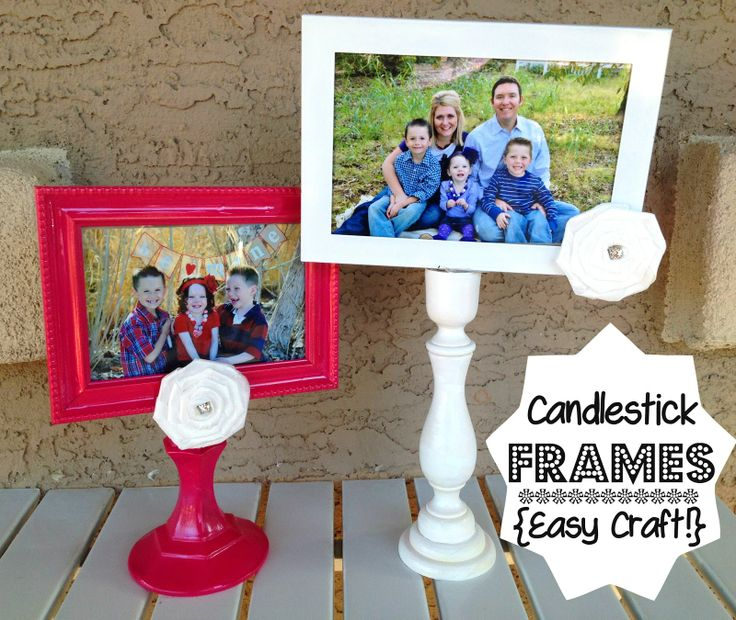 Candlestick Frames - cute and easy.  would be fun for a young women craft (mother's day?)