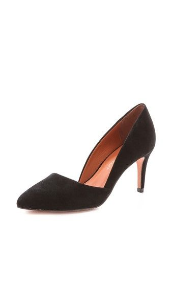 Rebecca Minkoff Замшевые туфли-лодочки Brie на каблуке средней высоты