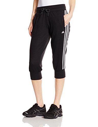 adidas Damen Sporthose Essentials 3-Stripes 3/4, Schwarz/Weiß, S, S20993   http://www.damenfashion.net/shop/adidas-damen-sporthose-essentials-3-stripes-34-schwarzweiss-s-s20993/