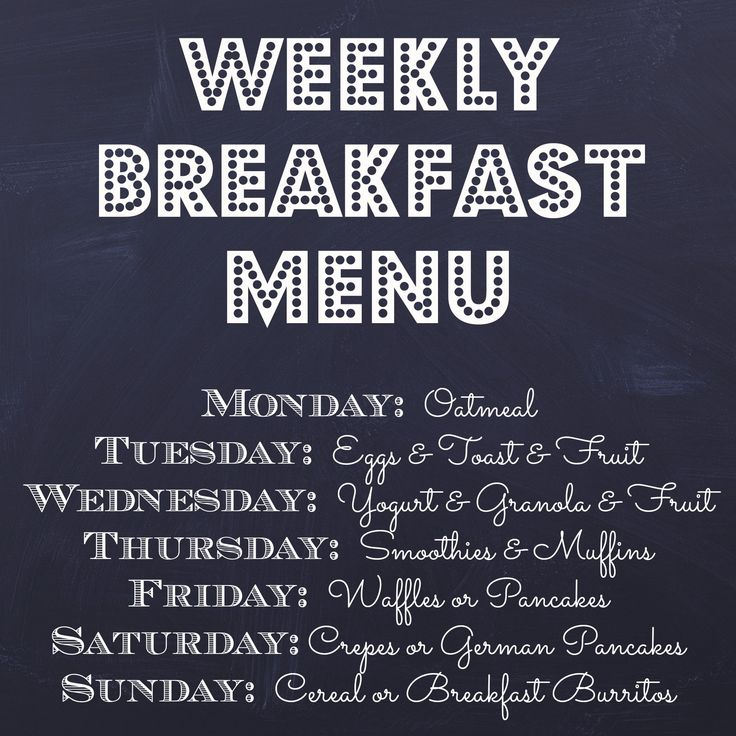 7 best menu ideas images on Pinterest Menu templates, Restaurant - breakfast menu template