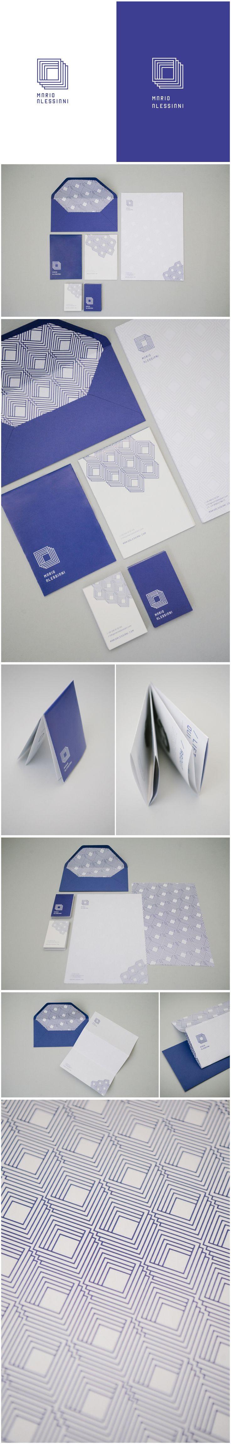 Mario Alessiani Design brand identity. Geometry, minimal, blue. #brand #brandidentity #logodesign
