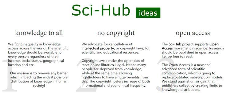 Así es cómo una investigadora ha creado la mayor web pirata de artículos científicos y documentos: Sci-Hub ofrece conocimiento, gratis.