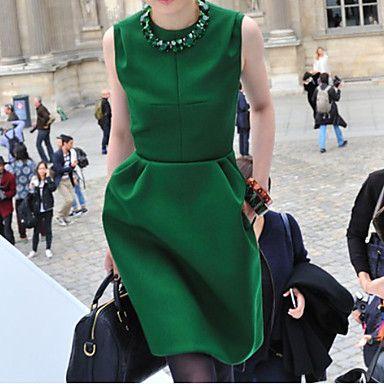 Rhinestone Neckline Pleats Tulip Mini Dress
