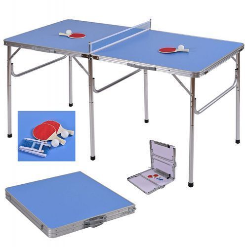 """Foldable Ping Pong Table Table Tennis Set Indoor Outdoor Portable Games 60""""     #FoldablePingPongTable"""