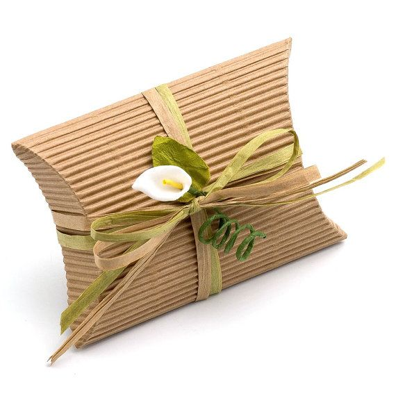 Box it. Bag it. Tie it. Tag it :-)10 Small Kraft Brown Corrugated Pillow Boxes / by PulpandTwine, £6.99