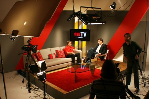be interviewed on a talk show