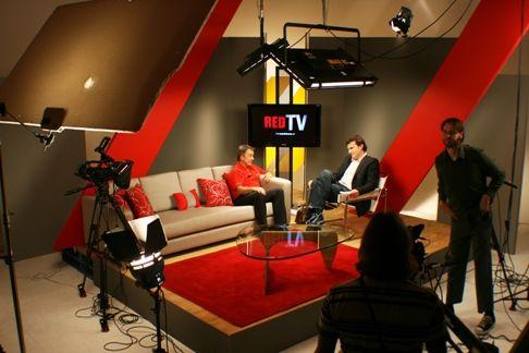 Talk Show Studio | TV Set Design | Pinterest | Color Combinations ...