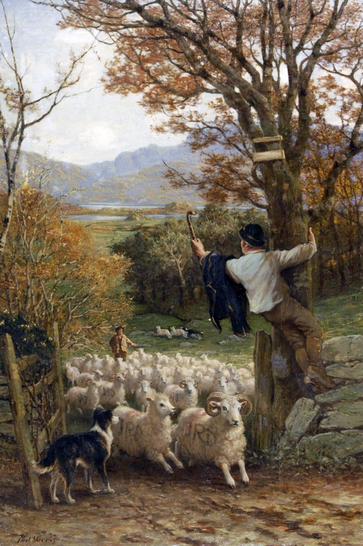 Changing Pastures by Philip Richard Morris (1836-1902)