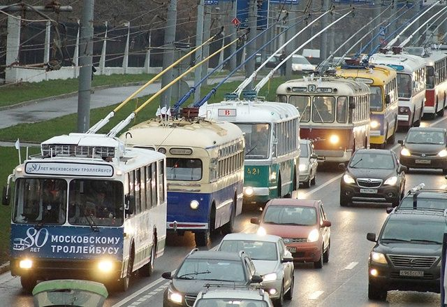 The Russian trolleybus service will mark its 118th birthday with a great parade.All visitors will have a chance to take a sneak peek inside the vehicles.