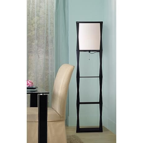 Haiku Etagere Black Floor Lamp 2g189 Lamps Plus Black Floor Lamp Floor Lamp With Shelves