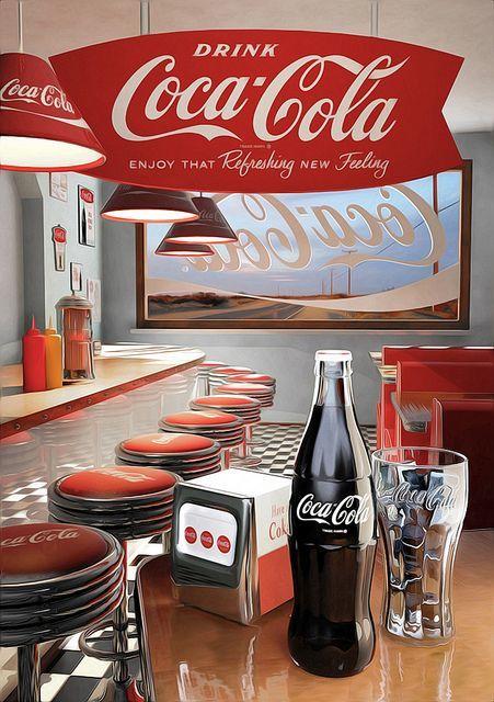 CARTELES ANTIGUOS DE ESPAÑA: DRINK COCA COLA. Productos de España & USA. Nº.-…