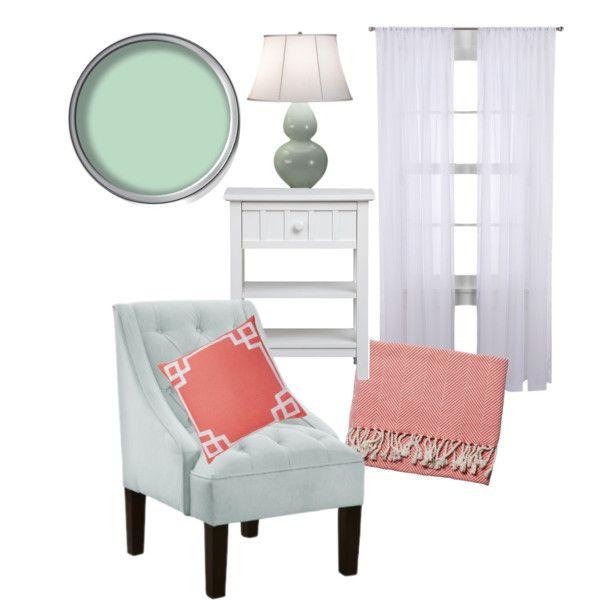 Coral & Mint Bedroom