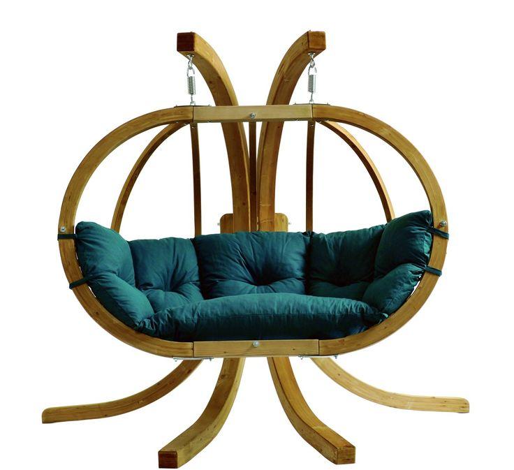 Globo 2 Seater Swing Seat - Hanging Chair - Weatherproof Spruce Wood