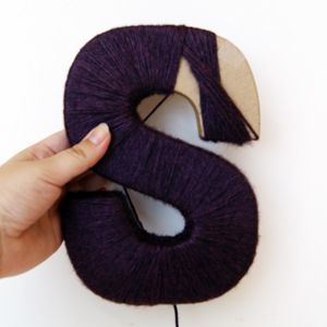 Yarn letter tutorial