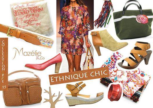Un look ethnique chic avec les chaussures et accessoires Mazélie & Co !