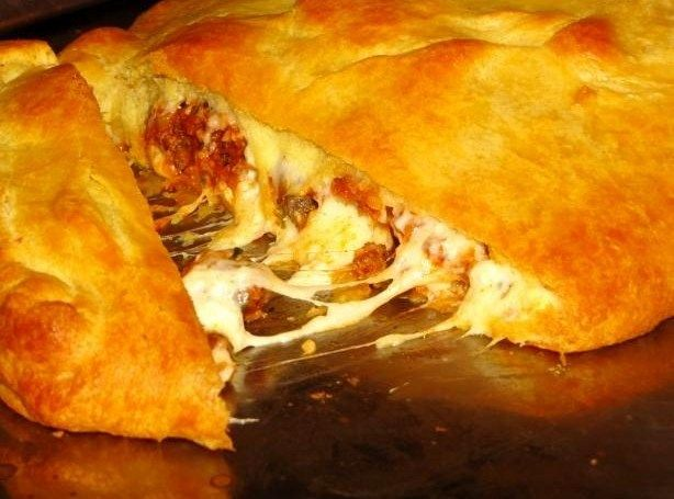 Crescent Lasagna- Like a calzone but the crust would be easier!