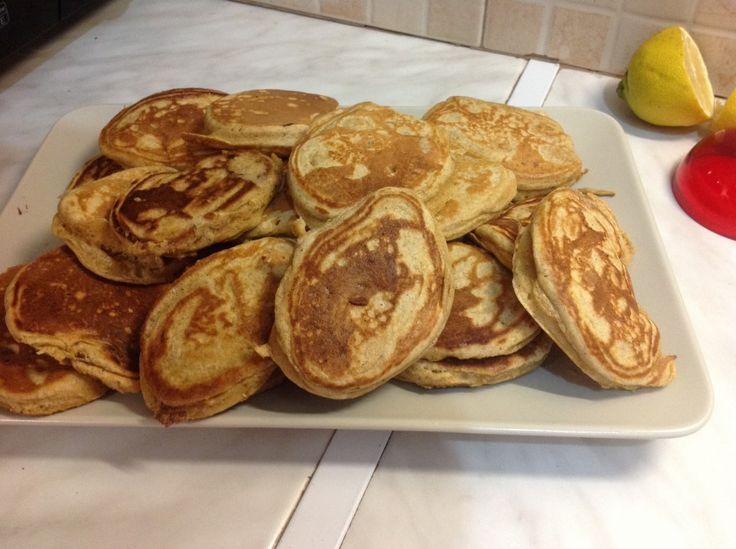 Pancakes με αλεύρι ολικής άλεσης και ελαιόλαδο