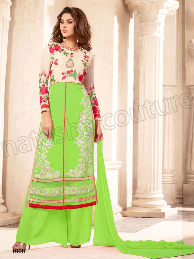 #Designer Stright Suits#Pakistani Suit#Indian Wear# Green#Desi Fashion #Natasha Couture#Indian Ethnic Wear# Salwar Kameez#Indian Suit#Pakastani Suits# Palazoo