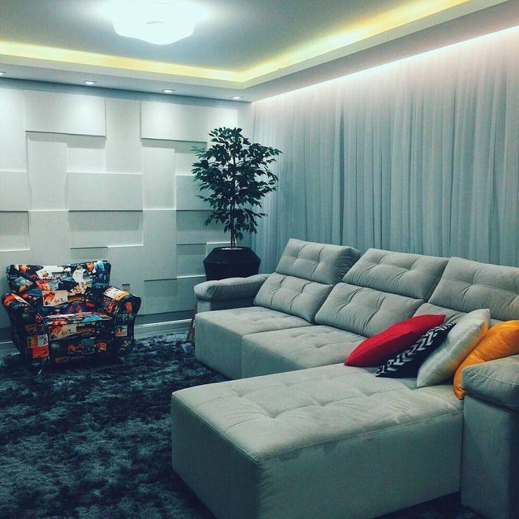 Sala de estar da queridíssima blogueira Taciele Alcolea