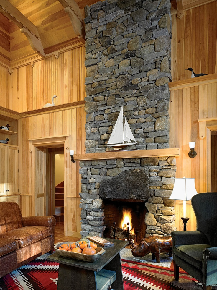 83 best Stone fireplaces images on Pinterest   Beach house, Doors ...