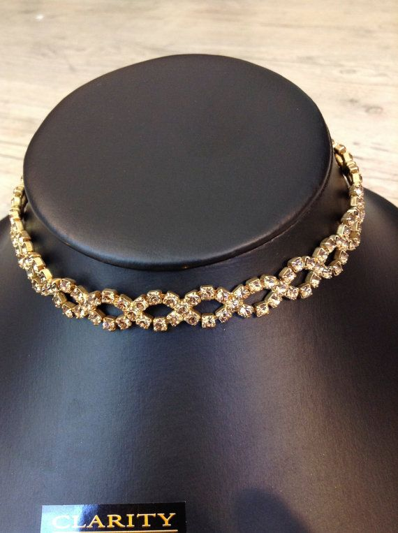 Swarovski Necklace Chocker with Chain for Perfect Fit by ClarityGR, €34.00