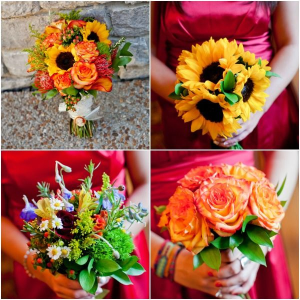 Fall Wedding Bouquets by The Collection - mazelmoments.com