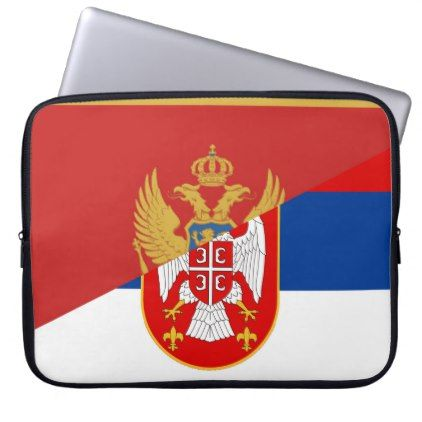 serbia montenegro flag country half symbol laptop sleeve - country gifts style diy gift ideas