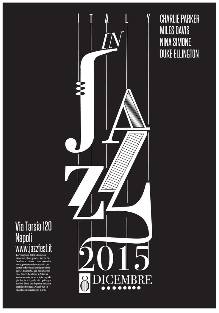 Jazz festival poster 2015 on Behance