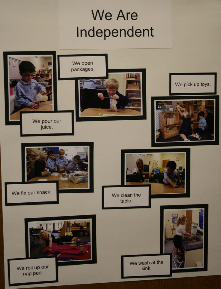 Good idea for recording progress in independence in the classroom.