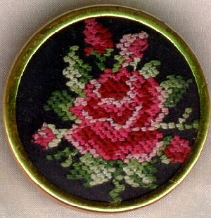 Western Germany Needlepoint Scarf Clip