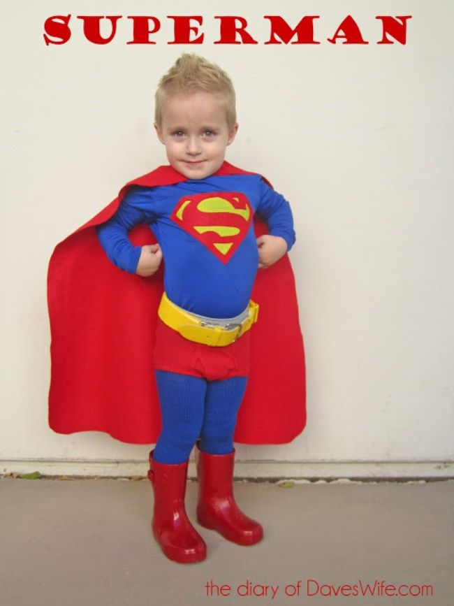 Best 25 superman costumes ideas on pinterest for Homemade halloween costumes for little boys