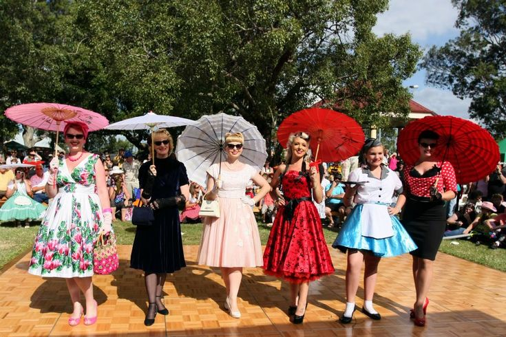 Ladies dressed in 1950s wear at the Kurri Kurri Nostalgia Festival