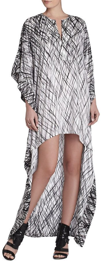 Would wear. Dameka Hi-Lo Caftan black & white Shirt Dress #UNIQUE_WOMENS_FASHION